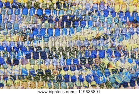Structure of a knitted fabric. A photo close up.