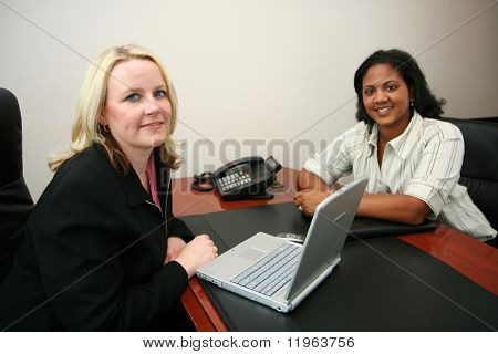 Business Team in an office ready for the work day