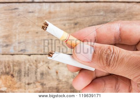Cigarette Roll In Hand Holding