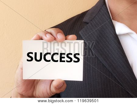 Success Word On The White Card