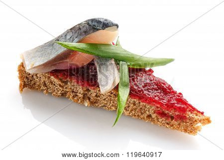 Delicious buffet,  settee on  white background