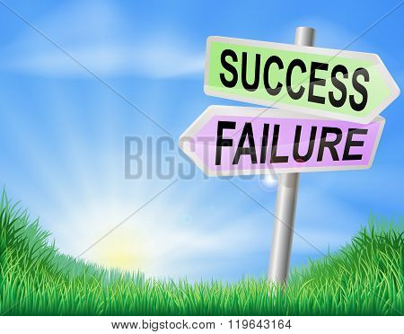 Success Or Failure Sign In Field