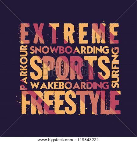 T-shirt Extreme Sports, Design, Fashion