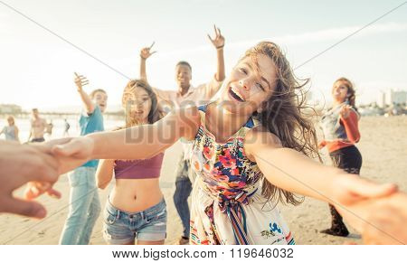 Group Of Friends Having Fun