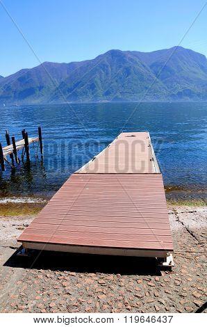 Lugano lake. Switzerland.