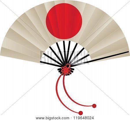 Japanese flag fan