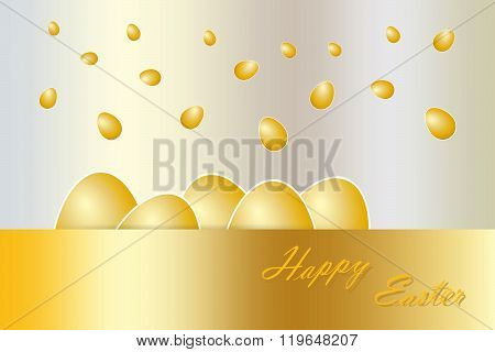 Falling golden eggs vector