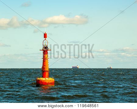 Buoy On Sea
