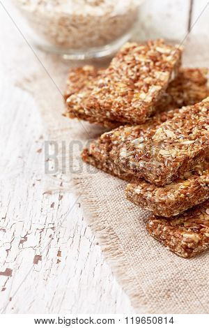 Cereal Bars, Oatmeal, Flax Seeds