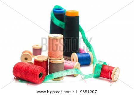 Colorful Threads And Needle