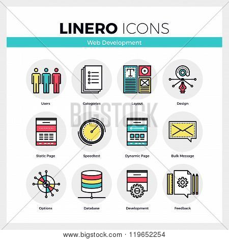 Web Development Linero Icons Set