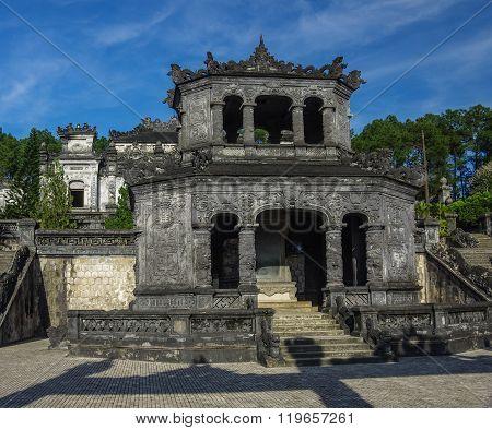 Shrine Pavilion In Imperial Khai Dinh Tomb In Hue, Vietnam