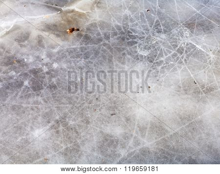 Natural Ice Surface In Cold Winter Day