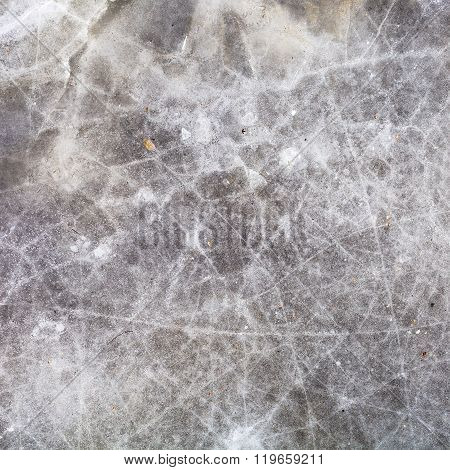 Ice On Frozen Lake In Cold Winter Day