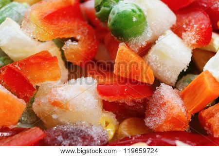 Frozen Vegetables. Mexican Mix. Macro. 6