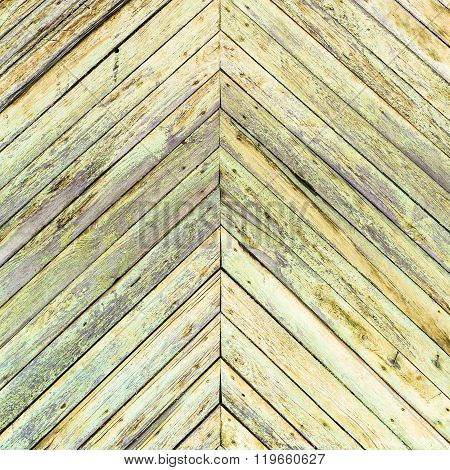 Background From Shabby Green Painted Planks