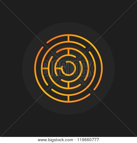 Golden circle maze icon