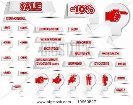 Sale Origami Stikers