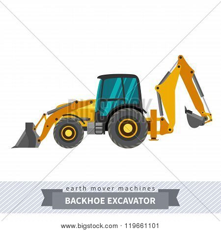 Backhoe Excavator For Earthwork Operations