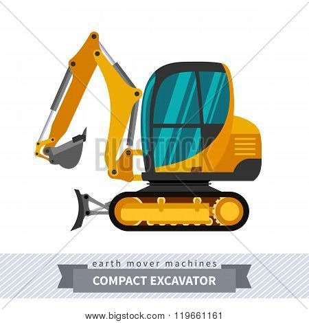 Mini Excavator For Earthwork Operations