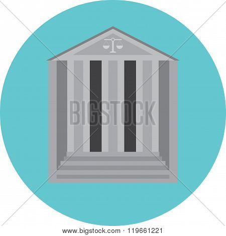 Courthouse Concept Icon