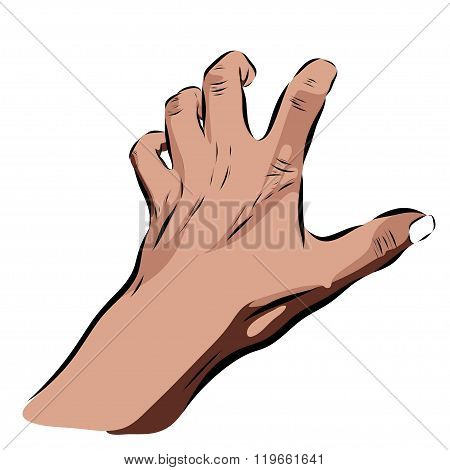 halloween hand on a white background. Vector EPS illustration