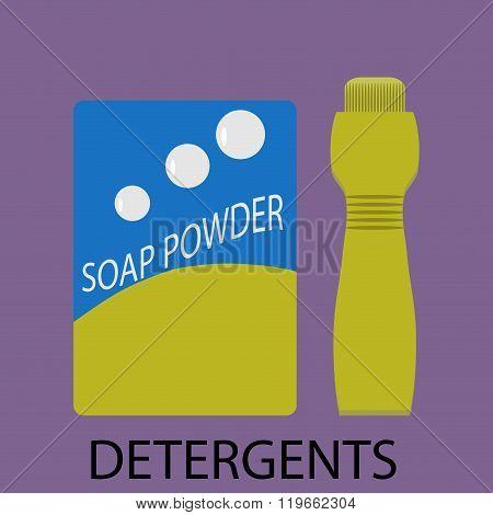 Detergents Icon Flat Design