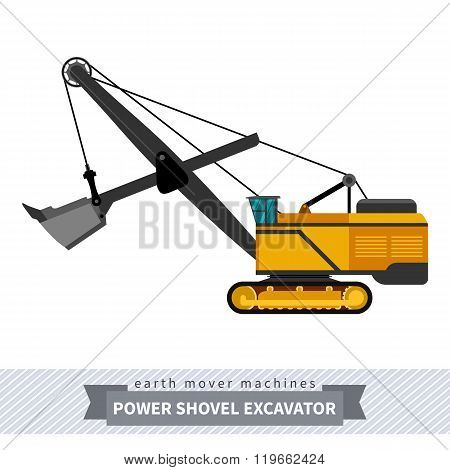 Power Shovel Excavator For Earthwork Operations