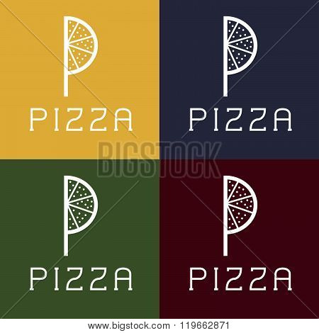Pizza Monogram . Concept Of Graphic Clipart Work