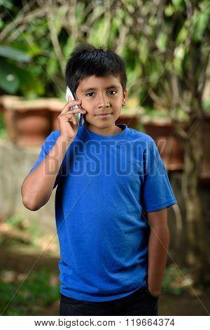 Boy Talk With Smartphone