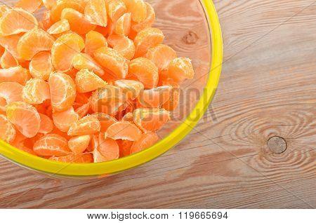 Mandarin In Glass Bowl