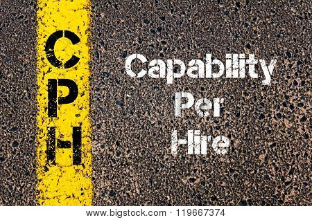 Business Acronym Cph Capability Per Hire