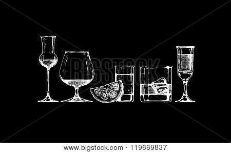 Glasses Goblets Set