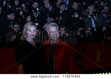 Doris Dorrie, Rosalie Thomass attend the 'Hail, Caesar!' Premiere during the 66th Berlinale International Film Festival on February 11, 2016 in Berlin, Germany.