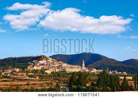 Penarroya de Tastavins skyline in Teruel Spain village of Matarrana