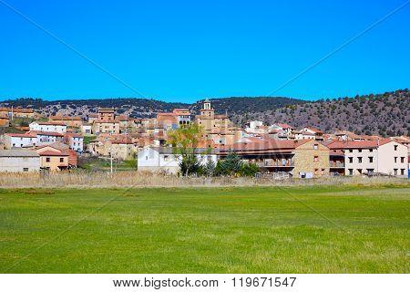 Royuela village Sierra de Albarracin in Teruel Spain