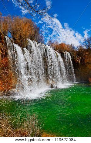 Cascada de San Pedro waterfall in Teruel Sierra Albarracin of Spain
