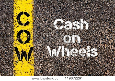 Business Acronym Cow Cash On Wheels