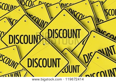 Discount yellow multiple sign