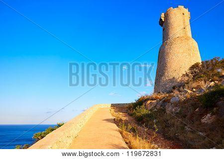 Denia Torre del Gerro tower in Las Rotas of Alicante Mediterranean Spain