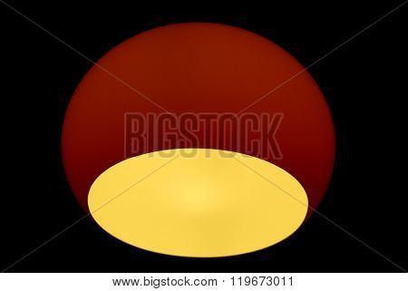 Red globe lamp