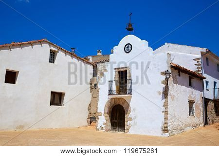 Corratxar church in Tinenca Benifassa of Spain Castellon