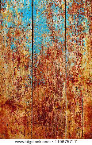 Beceite wooden door textures in Teruel Spain in Matarrana area