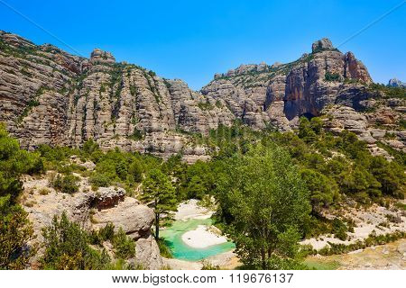 Beceite river Ulldemo in Teruel Spain at Matarrana area