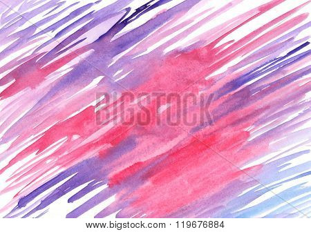 Watercolor Blue Pink Lilac Violet Spot Texture Background