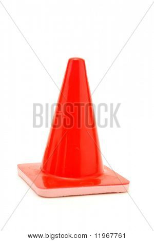 Orange Cone on White Background