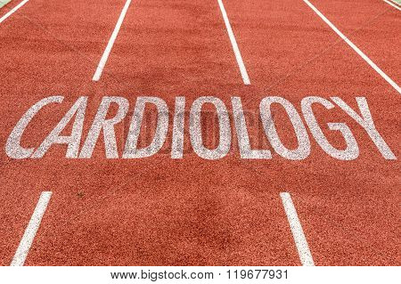 Cardiology written on running track