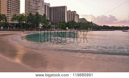 Waikiki Beach at Dawn
