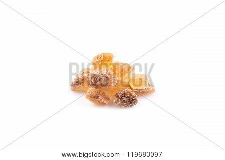 Brown Caramelized Lump Cane Sugar Cube