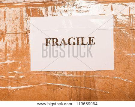 Fragile Sign Vintage